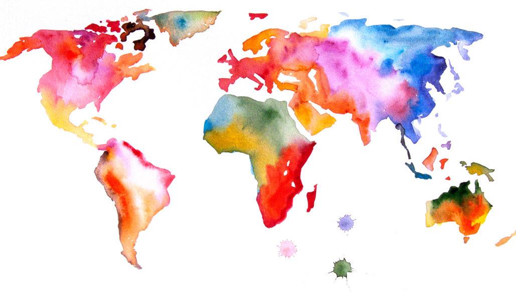 original abstract world map - photo #8