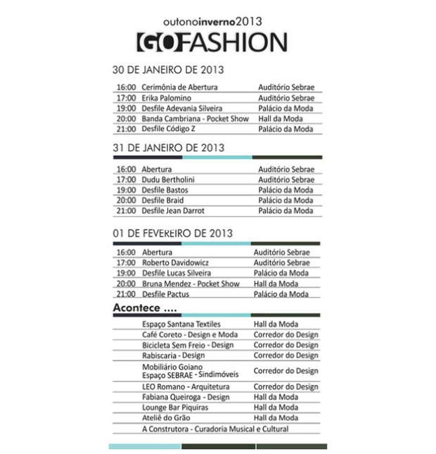 programacao Go Fashion