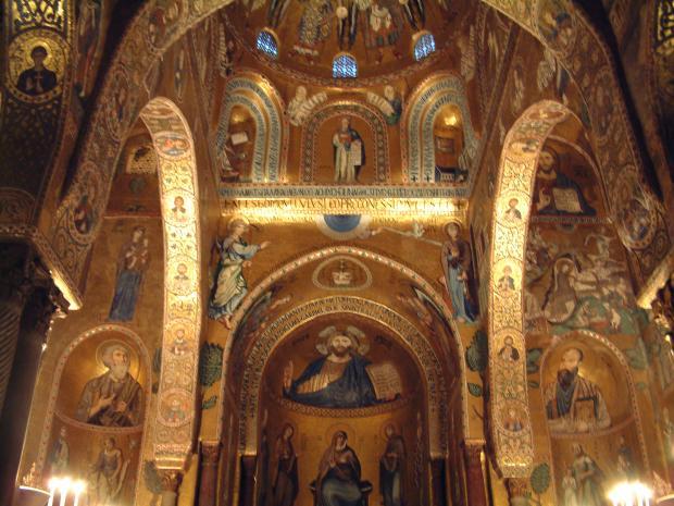 Palermo_-_Mosaics_of_Palatine_Chapel  - palermo   mosaics of palatine chapel - IN LOCO
