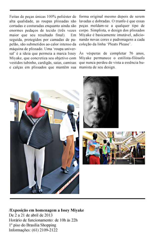 02  - 022 - Legado Issey Miyake é homenageado no Brasília Shopping